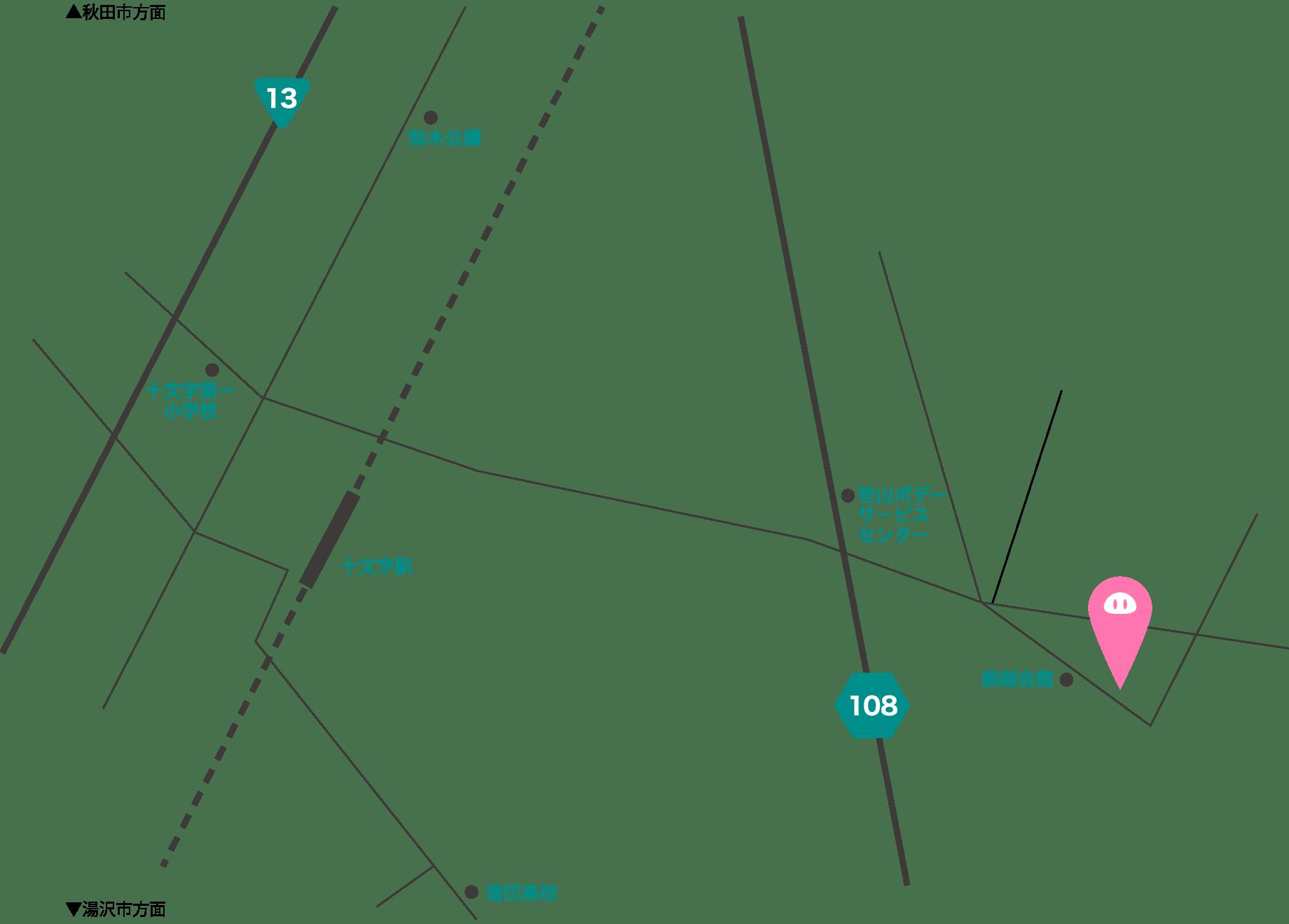 細川農興までのマップ